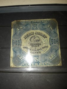 1875 1/8th barrel beer stamp, U.S B.O.B