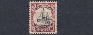 MARSHALL  ISLANDS 1901   S G  G17   40PF  BLACK & CARMINE    MNH