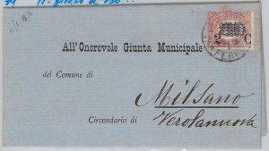 ITALIA REGNO: storia postale - Sassone 35 su BUSTA 11.01.1878 11o giorno d'uso!