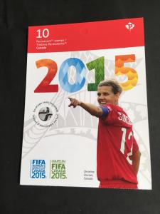 Canada USC #BK621 Cpl. Bklt. FIFA Womens Worl Cup Canada 2015 VF P Stamps Face$9