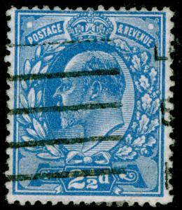 SG283 SPEC M18(2), 2½d bright blue, USED. Cat £15.