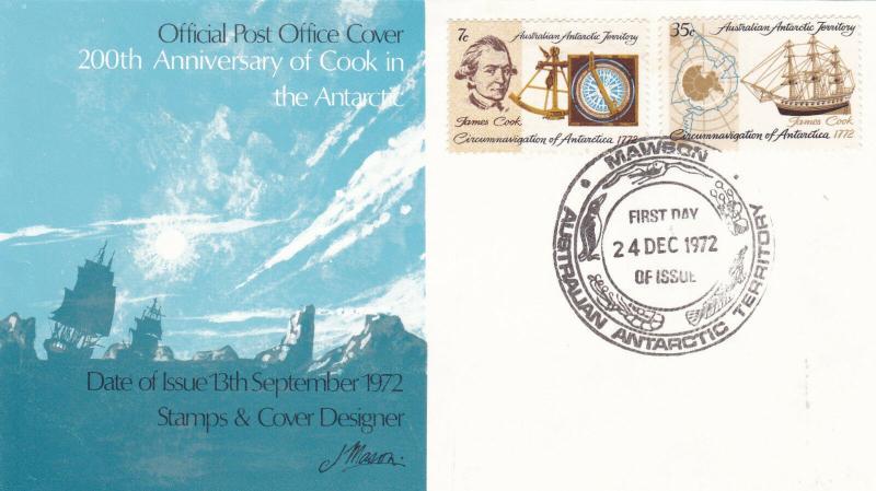 Australian Antarctic Territory 1972 Mawson A.N.A.R.E. Unadressed FDC