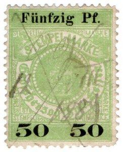 (I.B) Germany Revenue : Hessen Duty 50pf (large type)