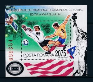 [59585] Romania 1994 World Cup Soccer Football USA MNH Sheet