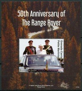 Grenadines Grenada Cars Stamps 2021 MNH Range Rover Queen Elizabeth II 1v S/S