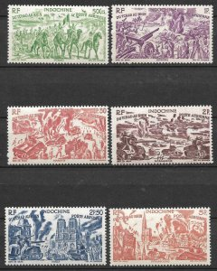 Doyle's_Stamps: French Indo-China 1946 Chad to the Rhine Set C20** to C25**
