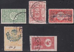 Saudi Arabia Scott L5,L49,L71 (blunt perfs), 52, 139 - Used earlies (CV $114.40)