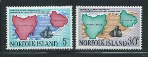 Norfolk Island 123-4 1969 125th Annexation set MNH