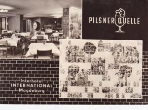 West Germany 1969 Magdeburgh Hotel Stamp Fair Postcard used VGC