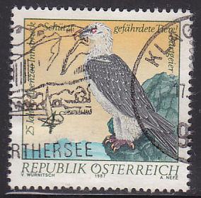 Austria 1411 Hinged Used 1987 Bearded Vulture