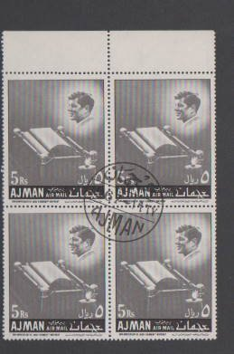 AJMAN #171  BLOCK  OF STAMPS USED  LOT#295