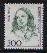 Germany  Berlin 1989  MNH  Famous Women 300 Pf  Hensel  #