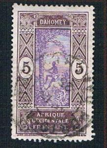 Dahomey 45 Used Man climbing Oil Palm (BP09920)