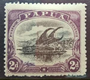 Papua Lakatoi 1908 2d watermark upright perf. 12½ hinged mint