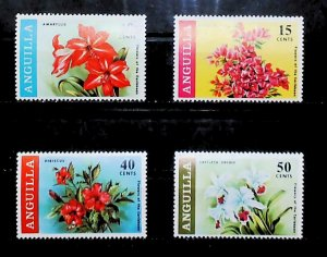 British Colony Anguilla 1969 Flowers of the Caribbean MH* Full Set A22P15F8704