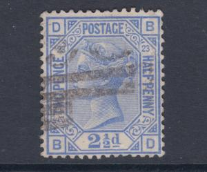 Great Britain Sc 82 used 1881 2½2p Queen Victoria, Plate 23, F-VF