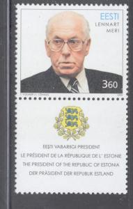 Estonia Sc 359 1999 70th Birthday Meri stamp mint NH