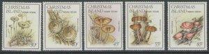 CHRISTMAS ISLAND SG185/9 1984 FUNGI MNH