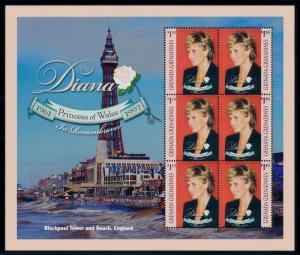 [95328] Grenada Grenadines 1998 Royalty Princess Diana Blackpool Sheet MNH