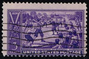 US #855 Baseball Centennial; Used (0.25)