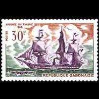 GABON 1968 - Scott# 234 Stamp Day-Ship Set of 1 NH