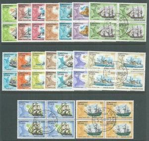 CHRISTMAS IS 1972 Ships Definitive set fine used blocks of 4...............65012