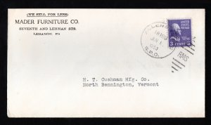 ADVERTISING COVER RPO RMS - ALLEN & HARRIS TR 199 - 3C PREXIE 1953
