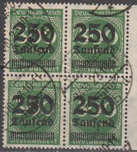 Germany #257 F-VF Block Of 4  CV $68.00