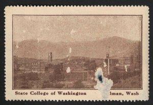 State College of Washington Poster Stamp - Pullman, Washington - (Early 20th C.)