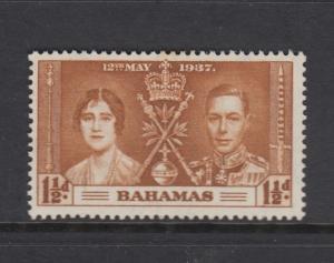 Bahamas -Scott 98 - Coronartion - 1937 - MVLH - Single 1.1/2d Stamp