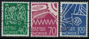 Norway #557-9  CV $5.00