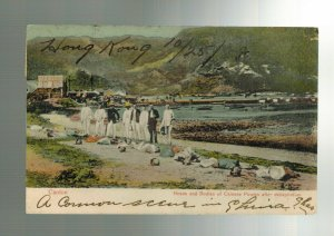 1908 Hong Kong to USA Picture Postcard Cover Executed Pirates Canton China