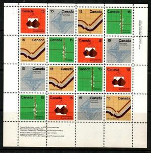 Canada Scott 582-5 Mint NH sheet (Catalog Value $28.00)