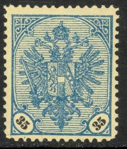 BOSNIA AND HERZEGOVINA 1901-04 35h ARMS Sc 27 MNH