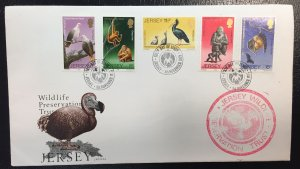 Jersey #217-221 FDC (First Day Cover) Jersey Wildlife Preservation Trust