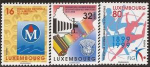 Luxembourg - 1999 Recreation - 3 Stamp Set - MNH Scott #1010, 1013-4
