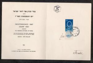 Israel Scott #128 Independence Folder Autographed Otto Wallish!!