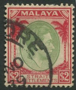 Straits Settlements - Scott 251 - KGVI Definitive - 1938 - FU - $2 Stamp