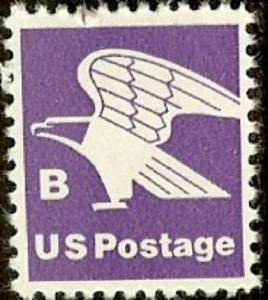 1818 Eagle B Rate Nondenominated F-VF MNH single