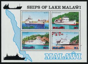 Malawi 469a MNH Ships on Lake Malawi, Map