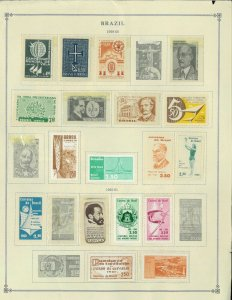 Brazil Mint 1959-1965 Hinged & in Mounts on 3 Scott International Pages.