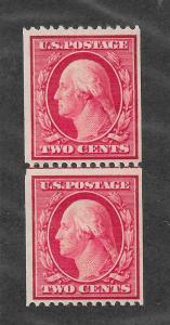 349 Unused 2c. Washington, Line Pair, PSE Cert.scv: $550, Free, Insured Shipping