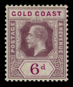 GOLD COAST SG78, 6d dull and bright purple, M MINT. Cat £13.