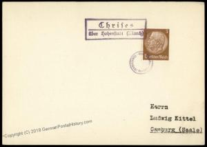 Germany Sudetenland 1938 Chrieses Annexation Provisional Cover 73177