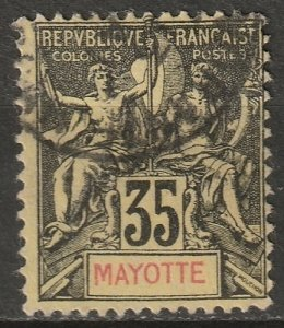 Mayotte 1900 Sc 13 used
