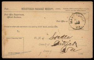 Virginia 1893 Mayo Forge VA DPO Cancel Helbock R5 Cover Stella Patrick Co 92469