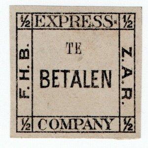 (I.B-CK) Transvaal Local Post : Bakker's Express ½d (Betalen)