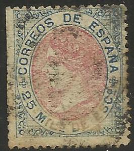 Spain 1867 Scott# 96 Used