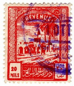 (I.B) BOIC (Tripolitania) Revenue : Duty Stamp 20m (1953)