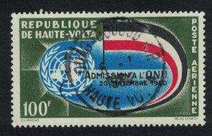 Upper Volta Second Anniversary of Admission to UN 100g 1962 Canc SG#110